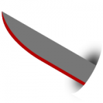 Straight Back Knife Blade