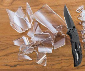 Sharpening Pocket Knife with a Broken Glass